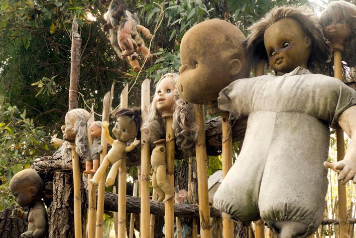 Insula de păpuşi, un loc sinistru şi bântuit