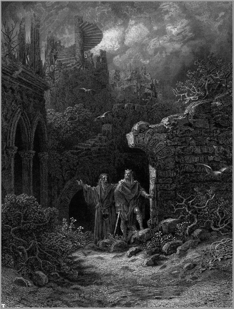 Vrăjitorul Merlin şi regele Arthur