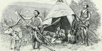 Tungusi din Siberia. Internet Archive Book Images, sursa Wikipedia.