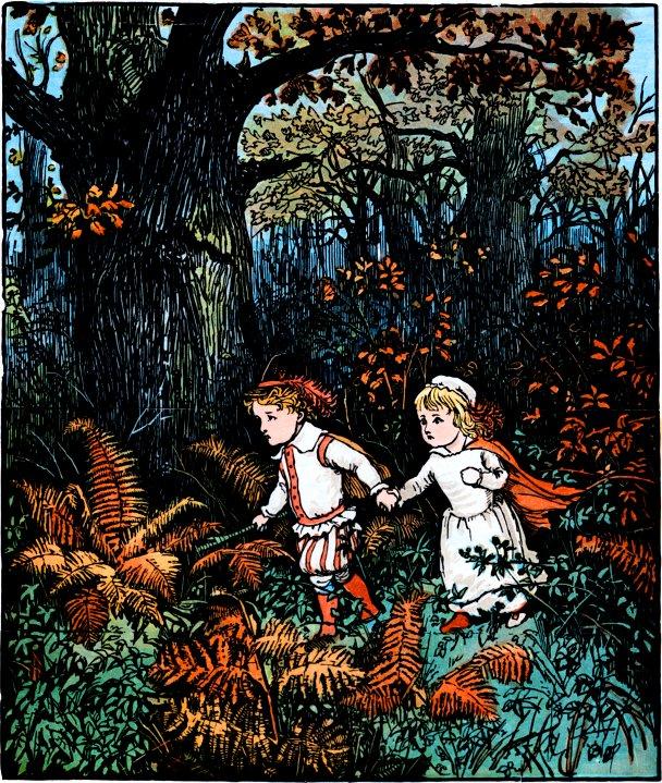 Ilustraţie de Randolph Caldecott, The Project Gutenberg EBook, Wikipedia.