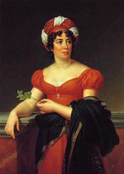 Portretul doamnei de Staël, realizat de François Gérard, sursă Wikipedia.
