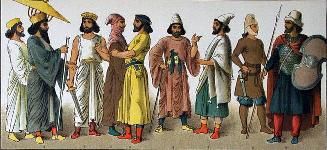 Perşi în costume naţionale. Autor Albert Kretschmer, Royal Court Theatre, Berin, şi dr. Carl Rohrbach. Sursă Wikipedia, Costumes of All Nations (1882).